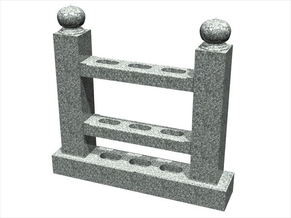 (003)塔婆立て・宝珠型角柱